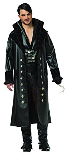 Hook Once Upon A Time Costume (Rasta Imposta Men's Once Upon A Time Hook, Black,)
