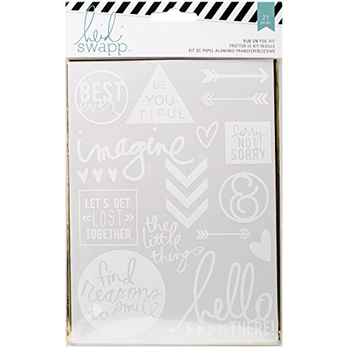 - Heidi Swapp 369336 Sentiments Rub Ons & Foil Kit for Craftwork