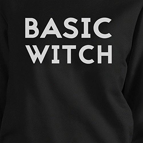 Black basic Witch Basic Felpa maniche da a lunghe donna Printing 365 qvF1wAv