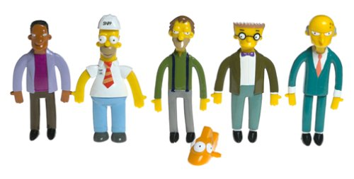 NJCroce Bendables: Simpsons Power Plant Collectible Boxed Set