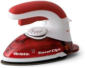 Ariete 6224 PLANCHA DE VIAJE 800W TRAVEL CHIC, 800 W, Acero Inoxidable, Rojo