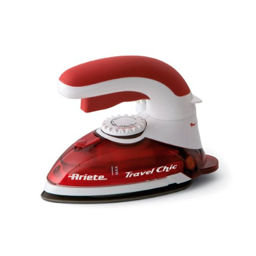 Ariete 800 Watt Travel Chic Iron, Red 6224 00S622400AR0