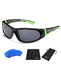 Kids Sports Style Polarized Sunglasses Rubber Flexible...