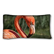 Generic Personalized ( Animal Flamingo Flamingo ) Popular 20x36 inch One Side Pizza Rectangle Pillowcase suitable for Queen-bed PC-Red-18422