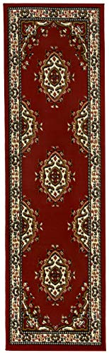 "Antep Rugs Kashan King Collection Himalayas Oriental Polypropylene Indoor Area Rug Runner (Maroon/Beige, 2' x 7') - FASHIONABLE FLOOR RUG: This versatile area rug features a stylish color scheme and a bold, eye-catching pattern that will effortlessly complement any décor. DO NOT remove the label on the back of the rug, removing may damage the rug permanently. VERSATILE GOOD LOOKS: Add a fashionable complement to a living room, dining room or bedroom with this versatile indoor area rug. With its classic color scheme and practical size, this area rug makes an attractive addition to any décor. DURABLE COMFORT: Machine-made from stain-resistant and stylish 100% Polypropylene, this durable area rug is designed for comfort and style. With a pile height of 0.3"", this floor rug offers cushioned comfort without being too bulky. - runner-rugs, entryway-furniture-decor, entryway-laundry-room - 419N7x4Fp5L -"