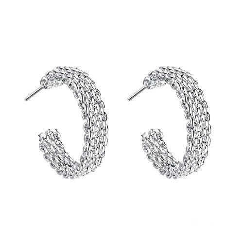Women's Fashion Simple semicircle Jewelry 925 Sterling Silver Stud Earring Stud Earrings Stud Earrings - Simple Semi Circle