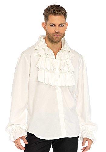 Leg Avenue Mens Pirate Gothic Vampire Shirt, White, X-Large]()