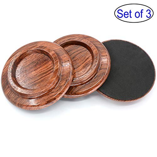 WOGOD Grand Piano Caster Cups Solid wood Caster Non-Slip Pad (Rosewood - Tile Rosewood Box