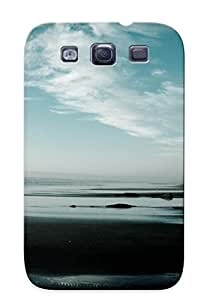 New Arrival Case Cover NGDgi0OnTmz With Design For Galaxy S3- Cliff On Empty Beach Best Gift Choice For Lovers
