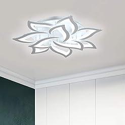 Interior Lighting Garwarm LED Ceiling Light 72W 10 Heads Petal Modern Flush Mount Acrylic Ceiling Lamp Chandelier Lighting Fixture for… modern ceiling light fixtures