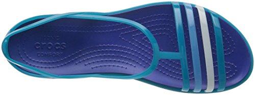 Blue Crocs Ouverts Isabellasandalw Cerulean turquoise Femme Bleu Bouts À Chaussures rxrw6Iz