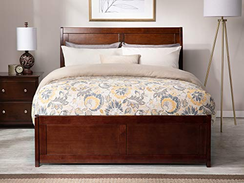Atlantic Furniture Portland Traditional Bed with Matching Foot Board, Full, Walnut