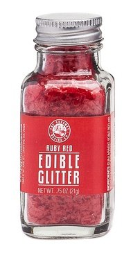 Pepper Creek Farms Edible Glitter, Red Ruby, 0.75 Ounce