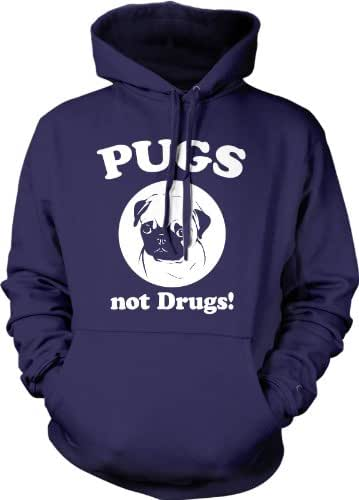Pugs Not Drugs Sweater Pug Face Funny Shirts Dogs Humor Novelty Hoodie