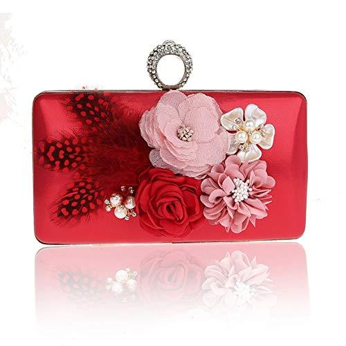 fériés Jours à E Nouveau Sacs soirée de B 7x5inch Main Sac soirée Fashion Et 18x12cm Mini Pochette Femme Style Soirée Bal Fleur de d'autres 6w4qEpqO