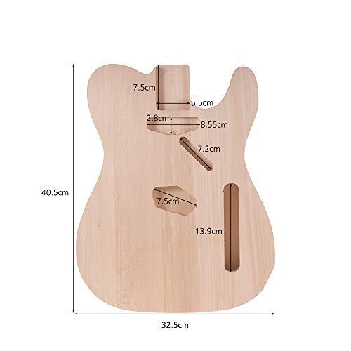 Muslady Cuerpo de Guitarra Eléctrica de Bricolaje Material de Tilo Cuerpos de Guitarra sin Terminar Custom Guitar Barrel Parts: Amazon.es: Instrumentos ...