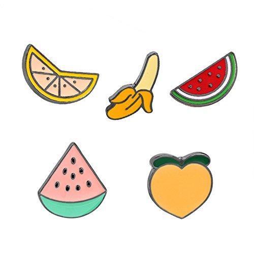 SIVITE Cute Cartoon Enamel Brooch Alloy Fruit Lapel Pin Clothes Hat Bag Scarf Corsage Badge (Scarf Day Bag)