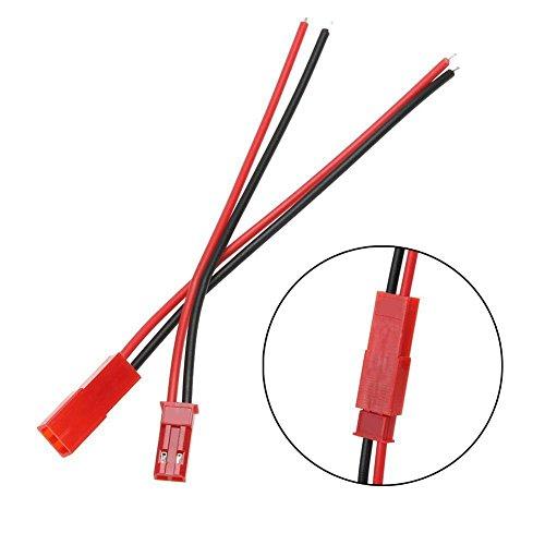 20 Sets Plug JST Lead socket Connector,Cool Ring Plug JST Lead socket Connector Cable Wire Line 11cm: