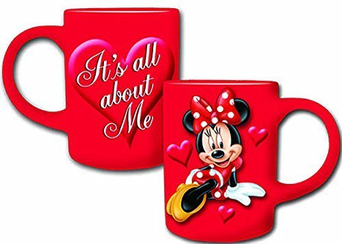 Disney Minnie Mouse All About Me Red Jumbo Ceramic MUG 14fl Oz.