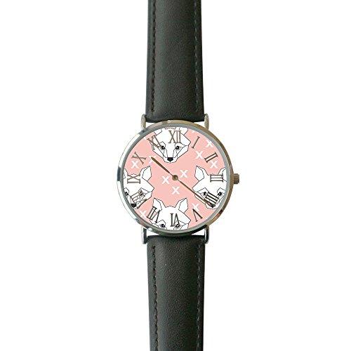 SINGDADFF Women's Geo Foxes Casual Watch Fashion Leather Analog Wrist Watches ()