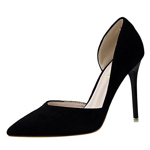 Inconnu Noir Aiguille Travail Talons Escarpins Pointu Hauts Chaussures Femmes Élégants Sandales Escarpin Bureau RqR7wrpH