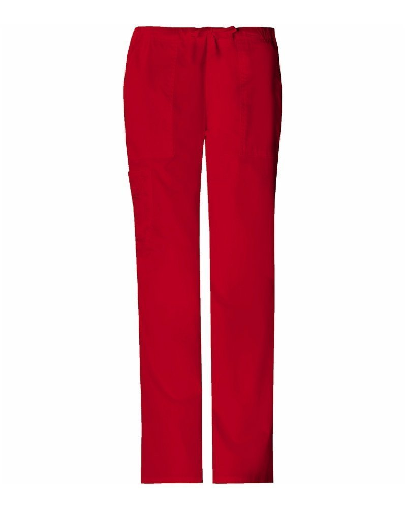 Cherokee Workwear Core Stretch Women's 4044 Drawstring Cargo Scrub Pant- Poppy- 2X-Large
