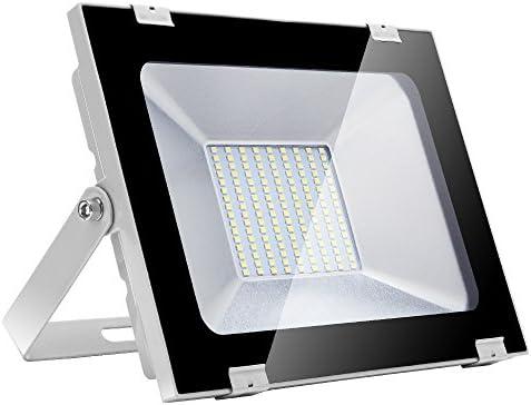 Yuanline Focos LED Exterior de Blanco Frío 100W 10000LM, 6000-6600k, Ultrafino y Ultraligero para Jardín, Garaje, Patio, Estadio, Fábrica, Almacén, Cuadrado Resistente al Agua IP65: Amazon.es: Iluminación