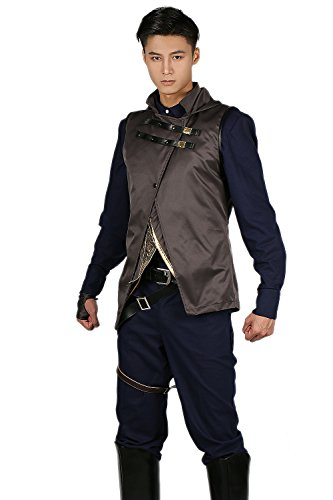 Corvo Attano Costume Deluxe Full Set Coat Outfits Cosplay Suit M - Dishonored Costume Corvo