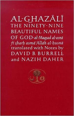 Al Ghazali On The Ninety Nine Beautiful Names Of God Maqsad Asna Fi Sharh Asma Allah Husna Islamic Texts Societys Series