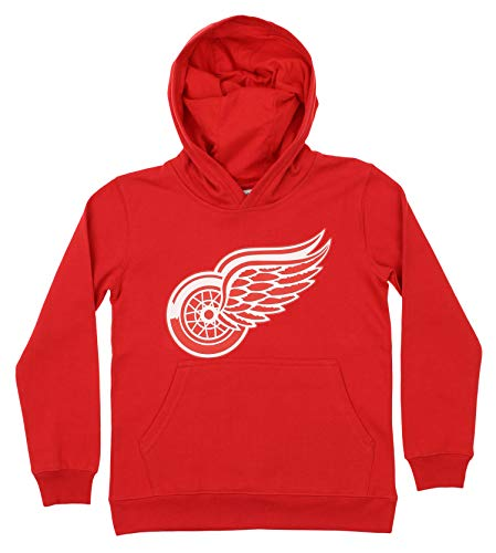 Outerstuff NHL Youth Boy's (8-20) Primary Logo Team Color Fleece Hoodie, Detroit Red Wings - Hoodie Wings Red