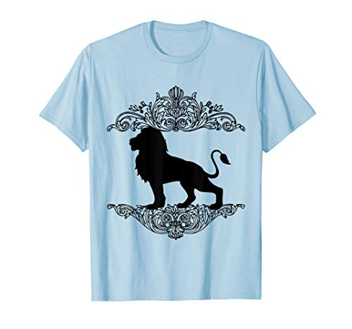 Majestic Lion Silhouette In Vintage Frame Unisex ()