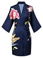 ExpressBuyNow Short Kimono Robes for Women - Watercolor Floral