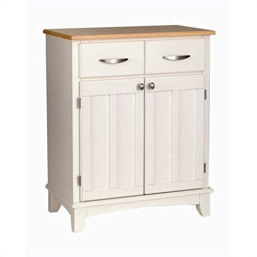 Buffet of Buffet White with Wood Top with Buffet by Home Styles by Home Styles (Image #3)