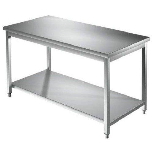 Mesa 150 x 90 x 85 Acero Inoxidable 304 sobre patas estante cocina ...