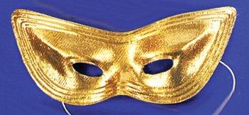 Harlequin Mask Lame Gold - Lame Harlequin Mask