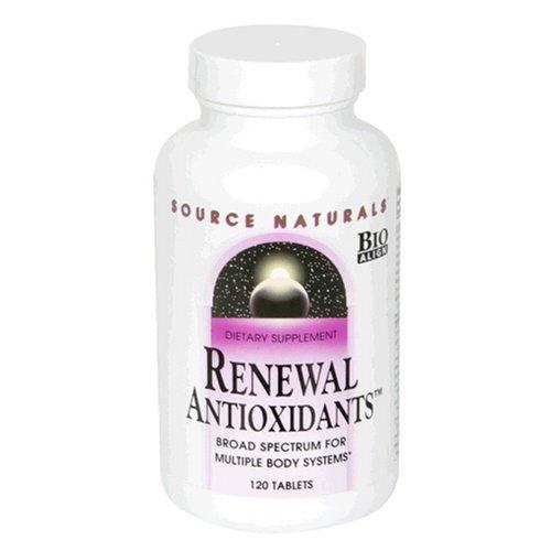 Source Naturals Renouvellement antioxydants, 120 Comprimés