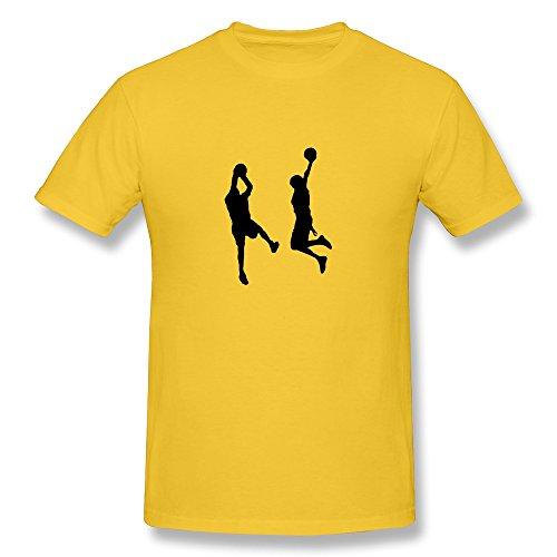 Men's Basketballer 2 Mal 1 Farbig T-shirts,Yellow Tshirt By HGiorgis S Yellow
