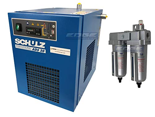 (Schulz REFRIGERATED AIR Dryer for AIR Compressor, Compressed AIR Systems, 20 CFM (with PRE-Filters))