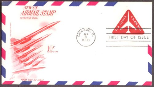 Pan American SST cachet US Air Mail Stamp 1st day cover 1968
