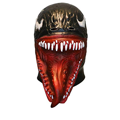 Axiba Universe Deluxe Venom Mask Helmet Cosplay Costume Accessories Adult Halloween ()