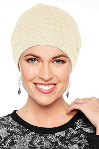 Headcovers Unlimited Cotton Relaxed Beanie-Caps for Women with Chemo Cancer Hair Loss Cream ()