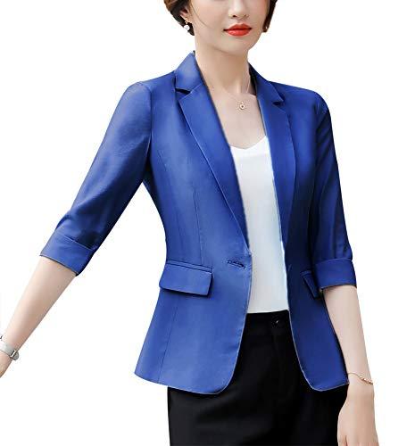 Women's Casual Work Office Blaze Jacket One Button Jacket Slim Fit Blazers for Women