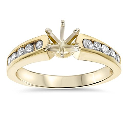 1/2ct Diamond Semi Mount Engagement Ring Setting Gold