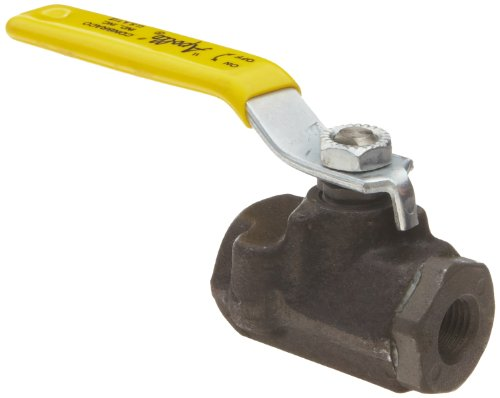 Apollo 73A-140 Series Carbon Steel Ball Valve with Stainless Steel 316 Ball and Stem, Two Piece, Inline, Latch-Lock Lever with Nut, 1