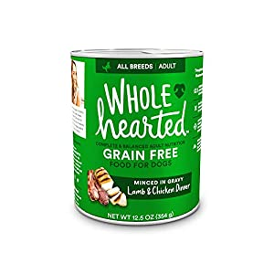 WholeHearted Grain-Free Adult Lamb and Chicken Dinner Wet Dog Food, 12.5 oz, Case of 8, 8 X 12.5 OZ