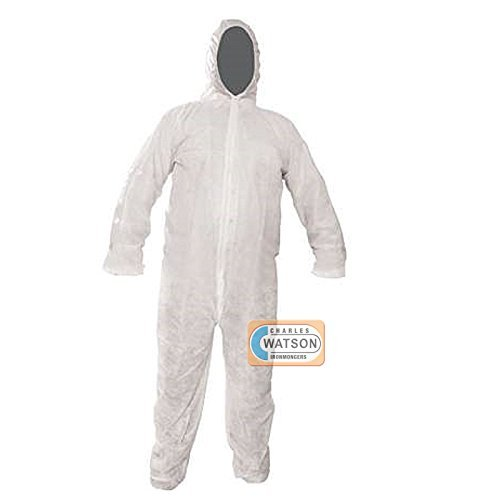 Disposable White Overall Protective Decorating Overall Suit - Medium - 120CM Silverline