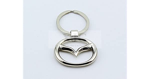 Amazon.com: Mazda logotipo 3d Crome Llavero Mazda3 Mazda5 ...