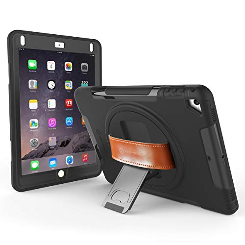 NewTrent iPad Case 9.7 inch 2018/2017 Heavy Duty Gladius Full Body Rugged Protective Case with Built-in Screen Protector Dual Layer Design for Apple iPad 9.7 inch 2017/2018 (Commute Version)