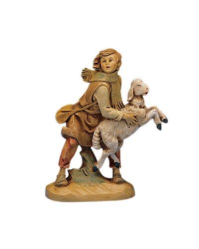 Fontanini Aaron the Shepherd Holding a Sheep Italian Nativity Village Figurine