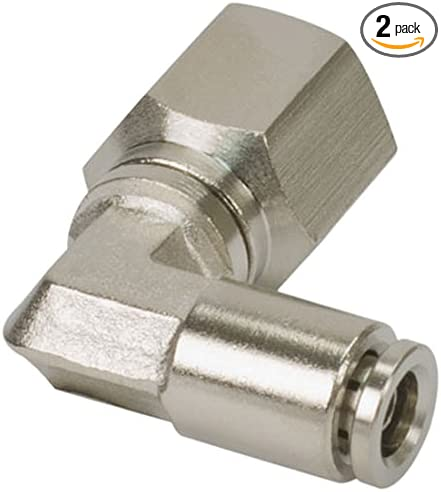 2 Pack VIAIR 13854 1//4 NPT DOT Approved F to 3//8 Airline 90 Degree Swivel Elbow Fitting